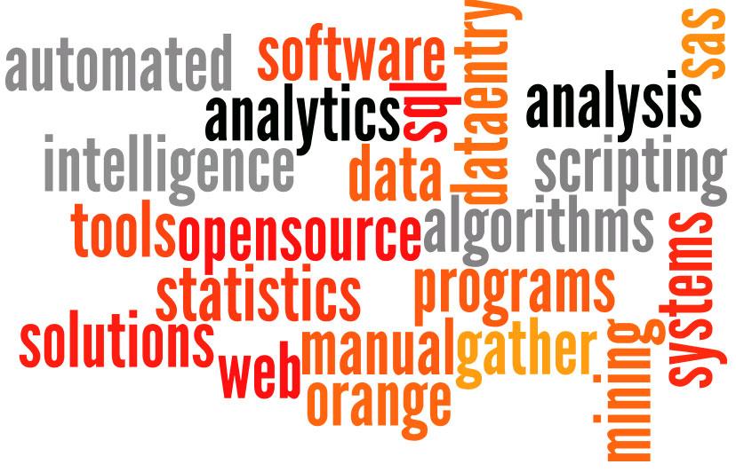 scripting data dataentry gather mining manual automated software tools programs intelligence analytics algorithms solutions sql systems web sas orange opensource statistics analysis