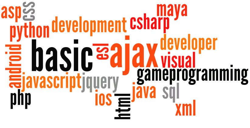 javascript c ajax php css developer development html xml ajax asp jquery java visual basic esl gameprogramming android python ios sql csharp maya basic